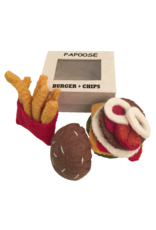 Papoose Toys Felt food burger and chips