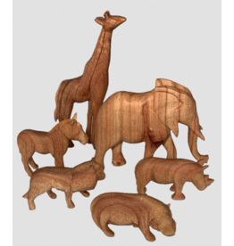 Papoose Toys African Animals Natural 6 pieces