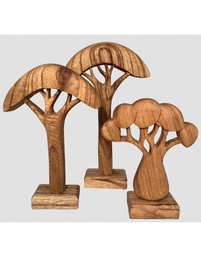 Papoose Toys African Trees Natural/ 3pieces