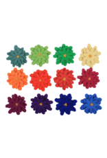 Papoose Toys Aster flowers / 12 pcs