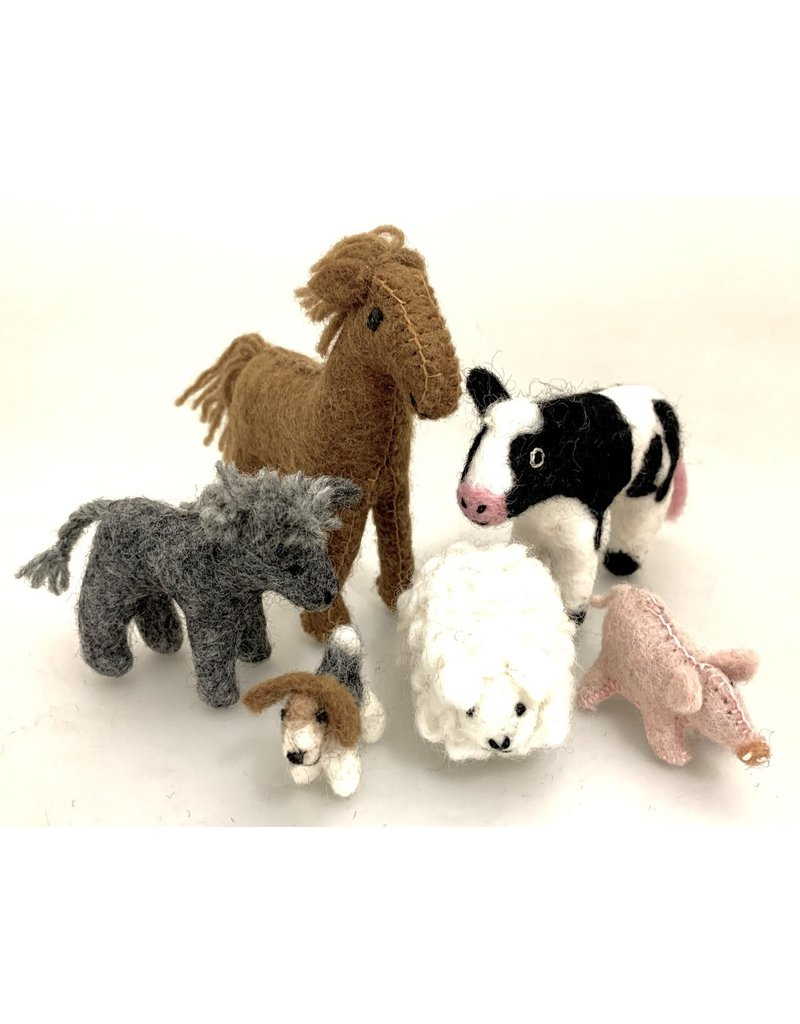 Papoose Toys Country animal set / 6 pcs