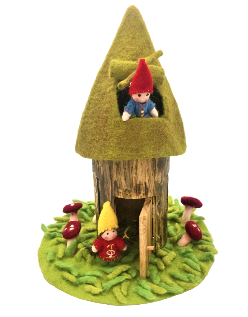 Papoose Toys Summer fairy house with felt roof