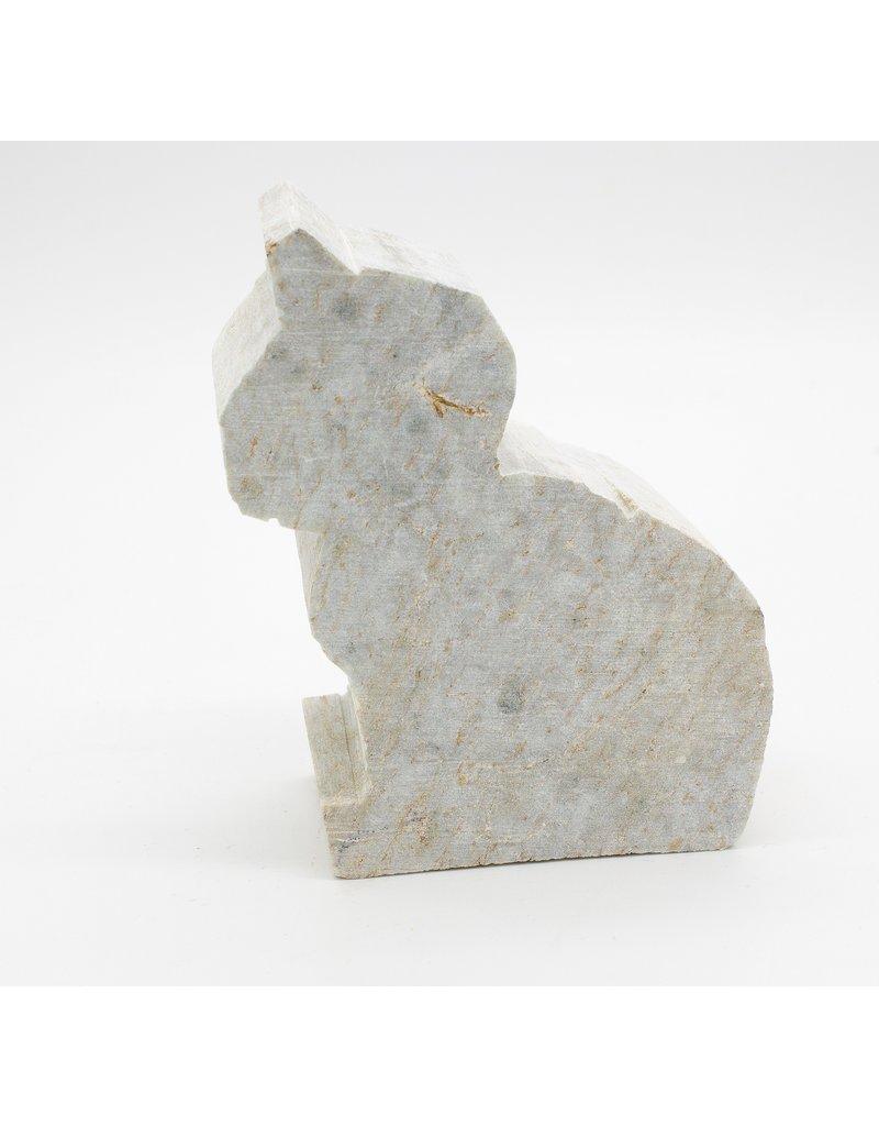 Kunstwerk Speksteenset dierfiguren 5 stuks