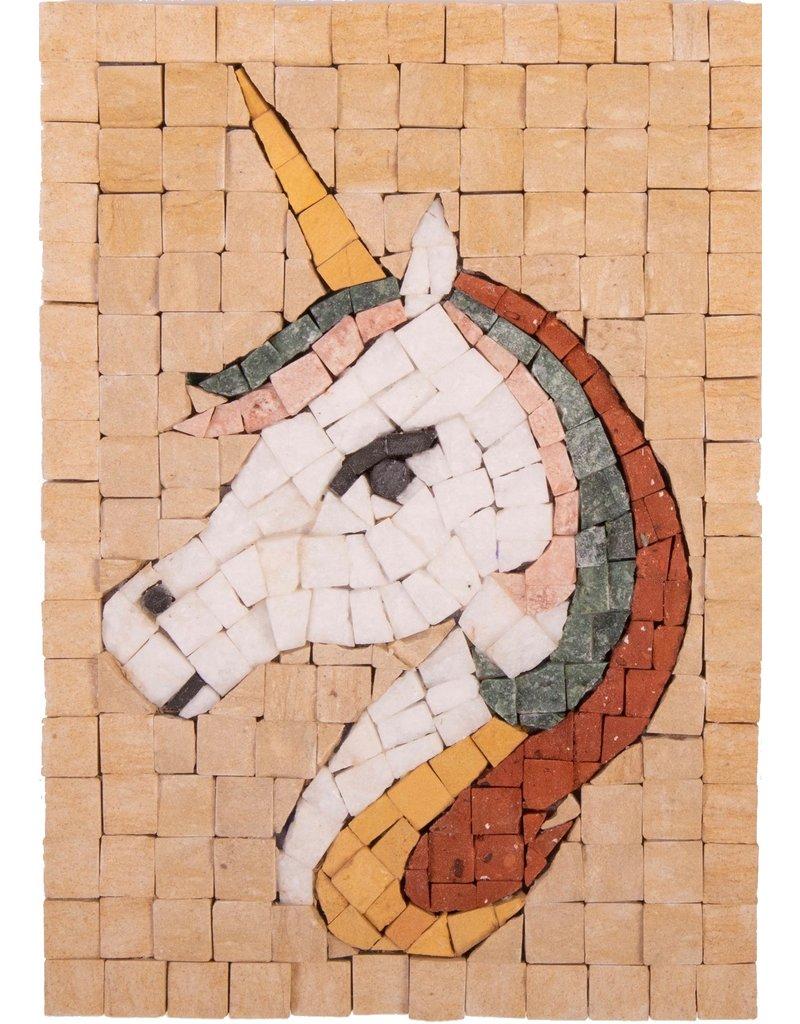Neptune Mosaic Mosaikit Unicorn Face 12 x 17