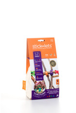 Stick-lets Stick-lets 12-delige set Dodeka Fort voor het bouwen van hutten, tenten, geometrie