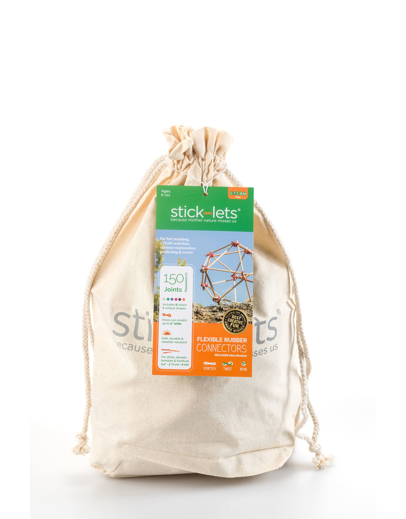Stick-lets Stick-lets Small Educational Kit 90 pieces voor het bouwen van hutten, tenten, geometrie