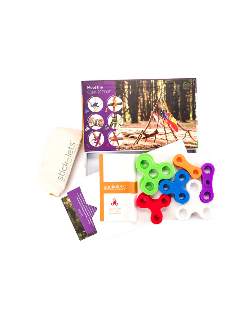 Stick-lets Stick-Lets 18-pieces in a set Dodeka Fort kit to build forts!