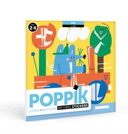 Poppik Mijn sticker kaarten - Stad