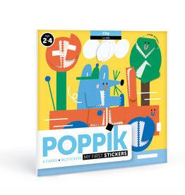 Poppik stickerkunst Mijn sticker kaarten - Stad