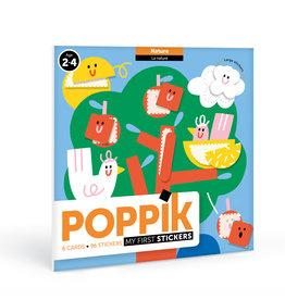 Poppik stickerkunst Mijn sticker kaarten - natuur