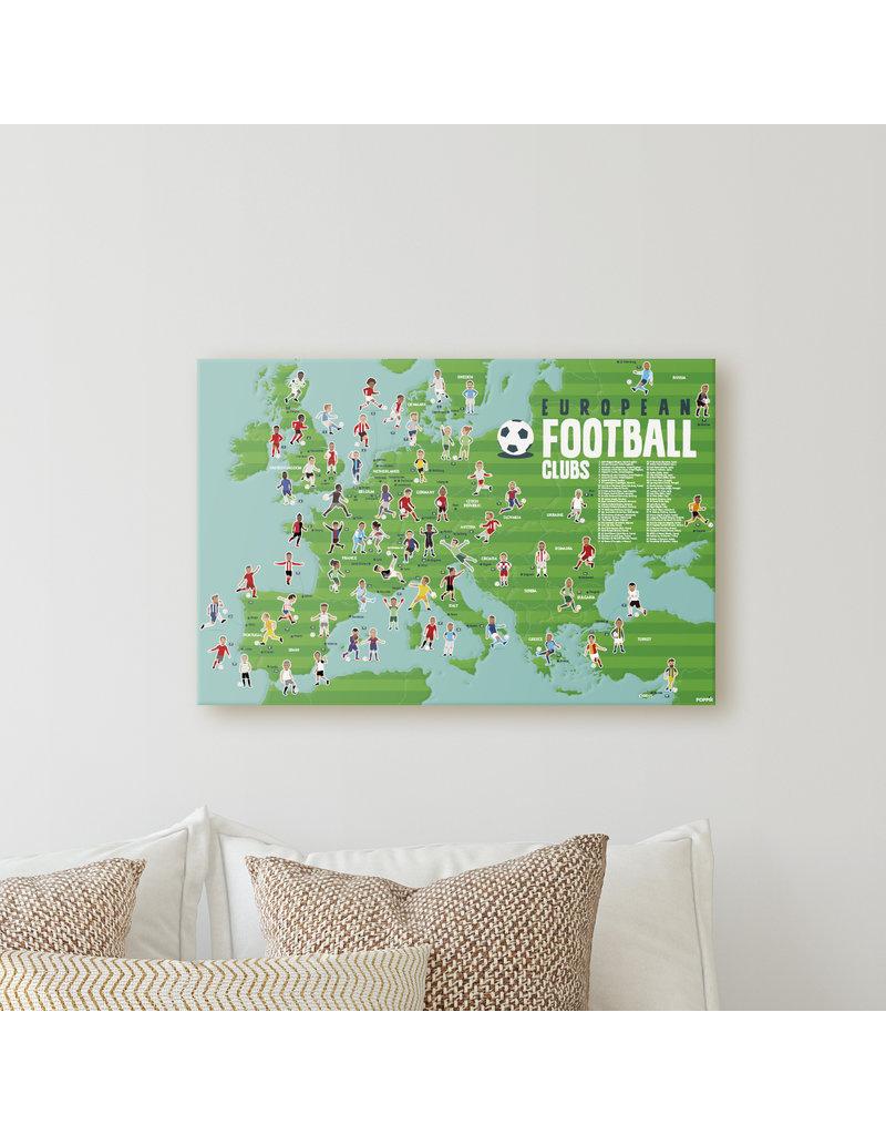 Poppik stickerkunst Poster stickers voetbal