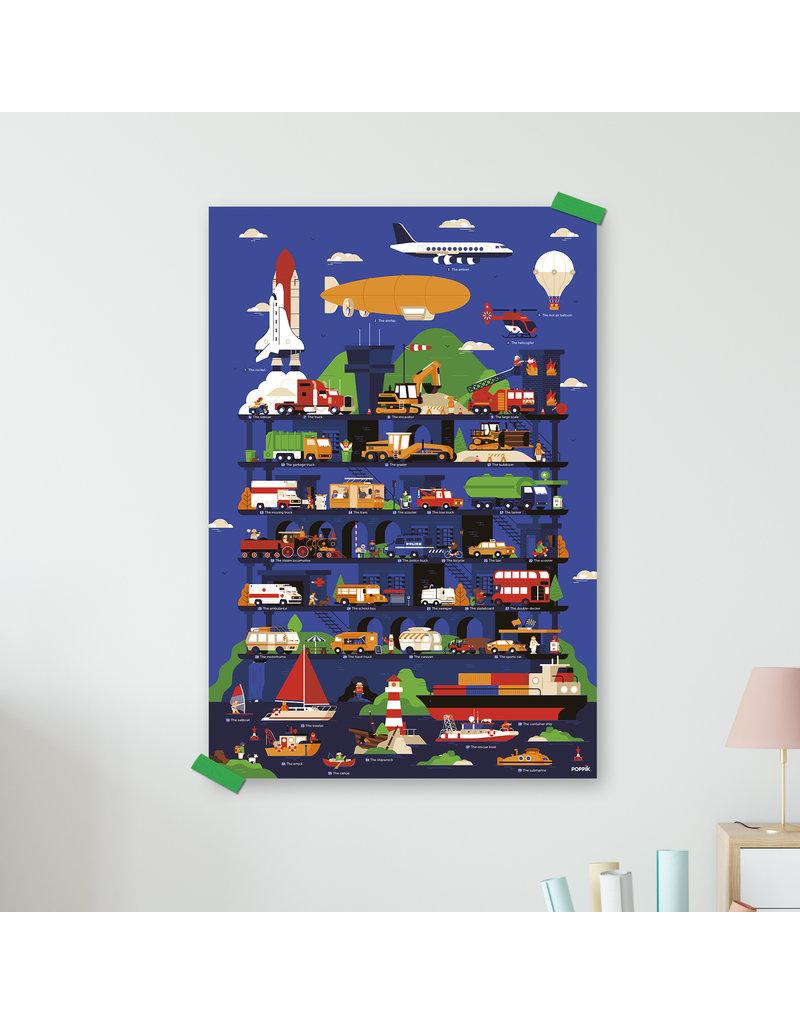 Poster stickers voertuigen