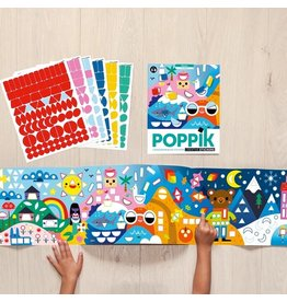 Poppik stickerkunst Stickerpanorama seizoenen