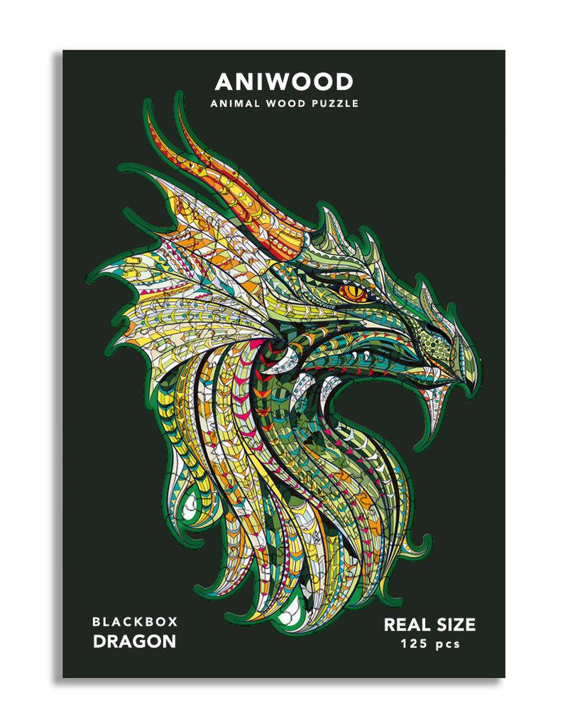 Aniwood Houten puzzel draak medium
