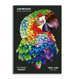 Aniwood Puzzel papegaai medium