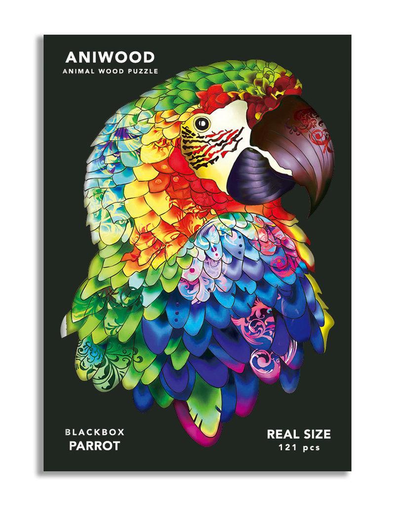Aniwood Wooden puzzle parrot medium