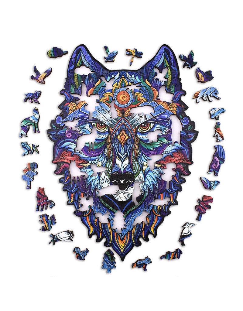 Aniwood Houten puzzel wolf medium