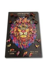 Aniwood Houten puzzel leeuw  large
