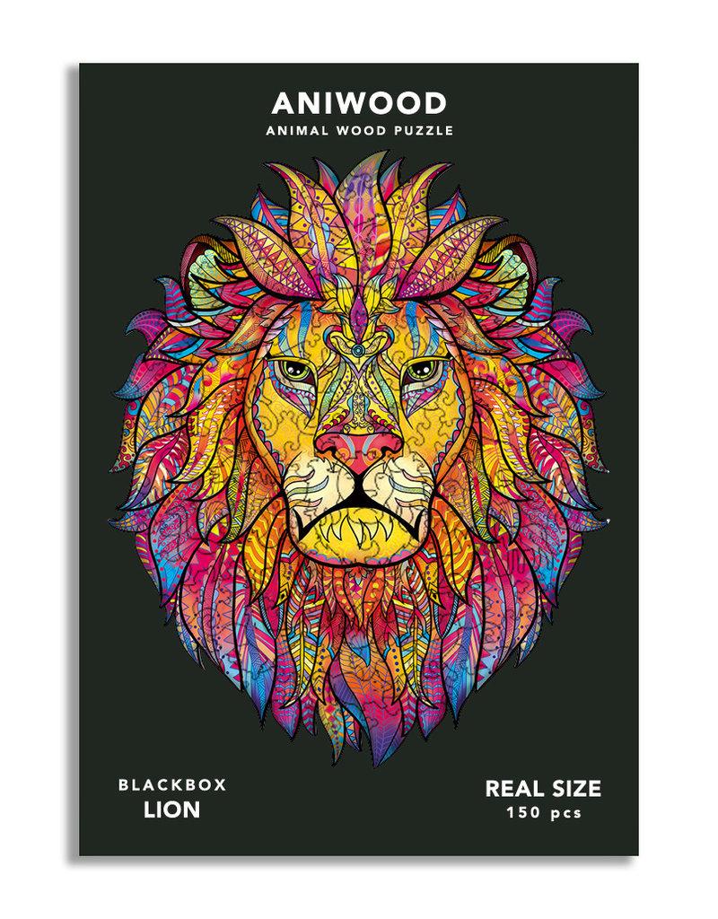 Aniwood Houten puzzel leeuw medium