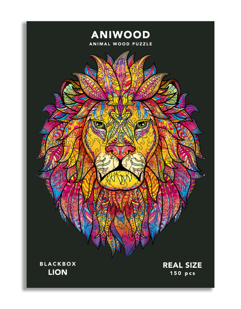 Aniwood Wooden puzzle lion medium