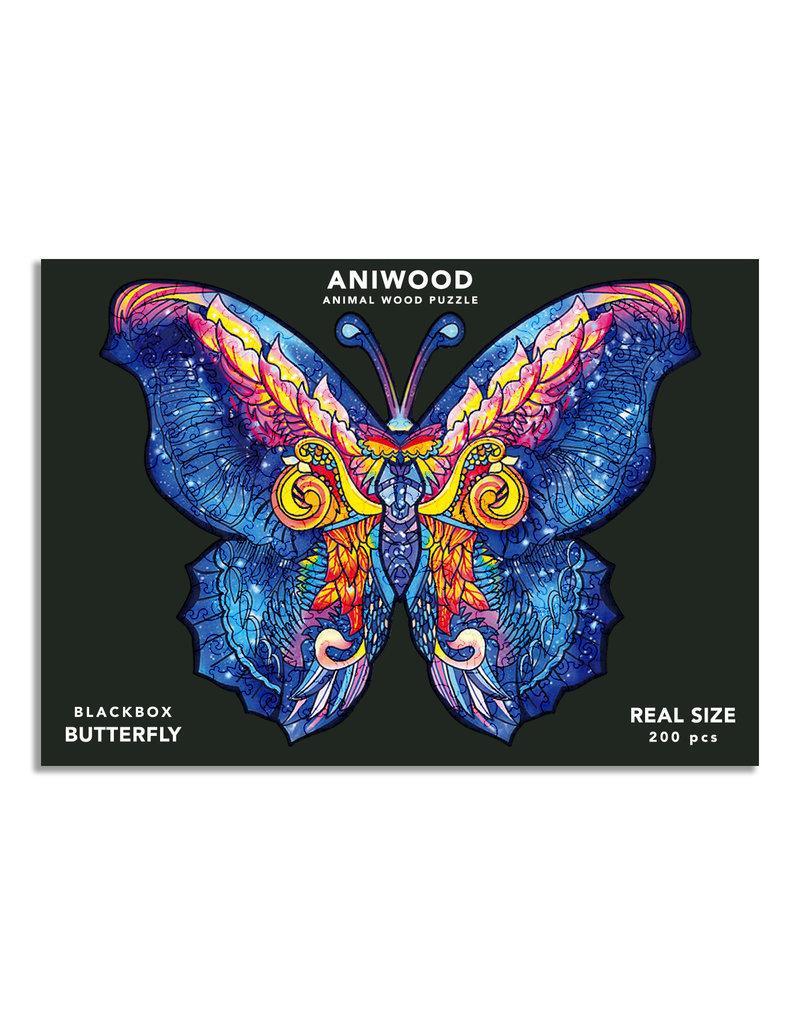 Aniwood Houten puzzel vlinder large