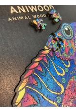 Aniwood Wooden puzzle chameleon medium