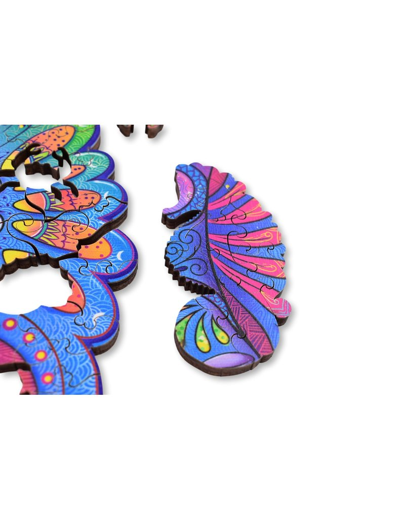 Aniwood Wooden shape puzzle seahorse small