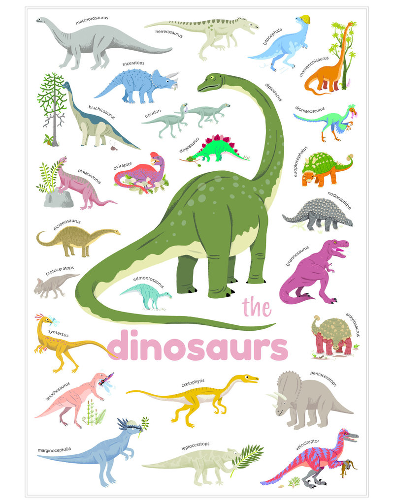 Poppik Poppik stickerposter mini - Thema dinosaurus