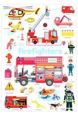 Poppik Poppik stickerposter mini - thema  brandweer