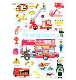 Poppik Stickerposter mini brandweer