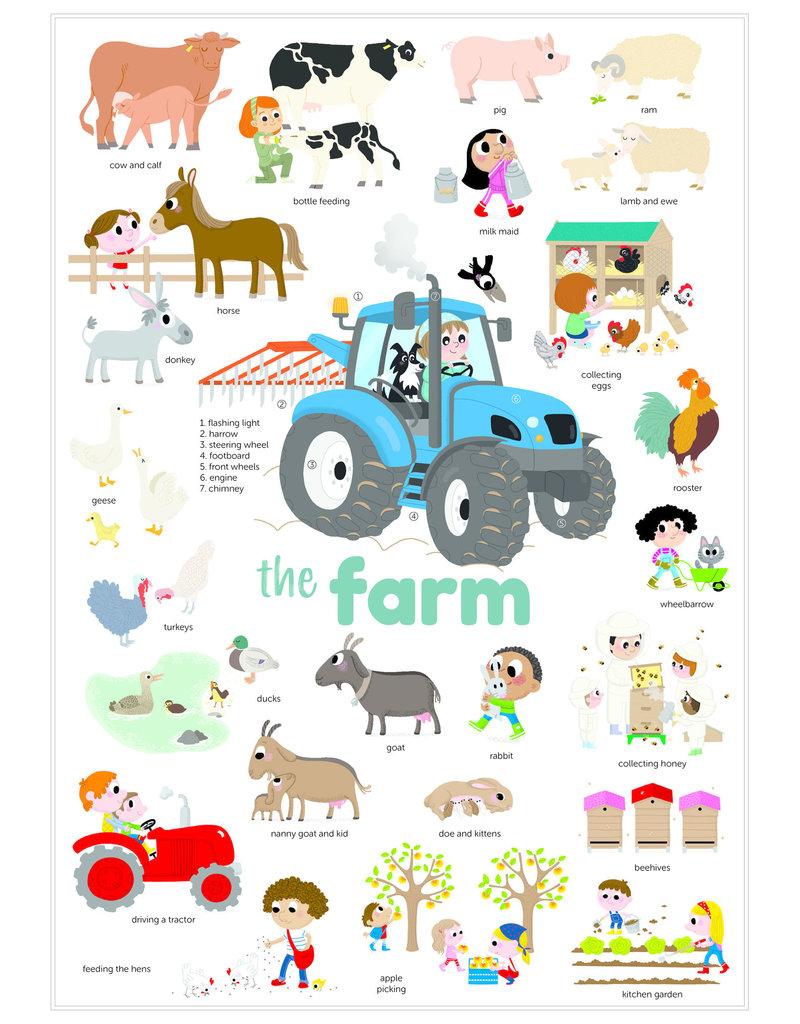 Poppik Poppik stickerposter mini - Thema boerderij
