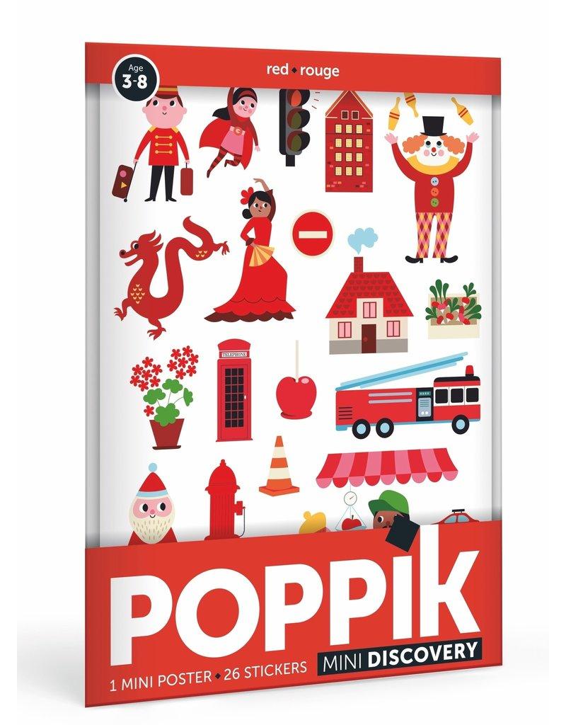Poppik Poppik stickerposter mini rood - Thema stad