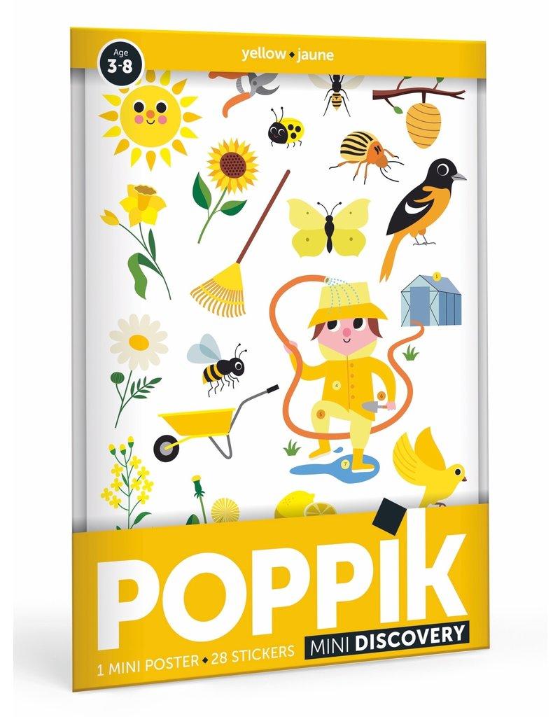 Poppik Poppik stickerposter mini geel - Thema tuin