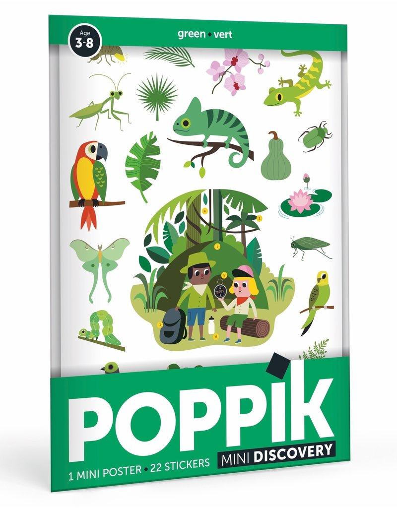 Poppik Stickerposter mini groen - jungle