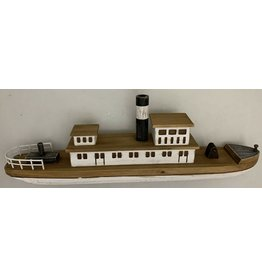 Papoose Toys Stoomboot - hout