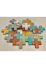 Papoose Toys Blocks Earth - 35 pcs