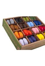 Crayon Rocks Just Rocks in a box - 4 x 16 kleuren Crayon Rocks - 64 krijtjes in een kraft doos