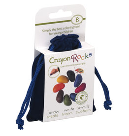 Crayon Rocks Acht (8) Crayon Rocks in een blauw fluwelen zakje
