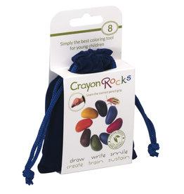 Crayon Rocks Eight (8) Crayon Rocks in a blue velvet bag