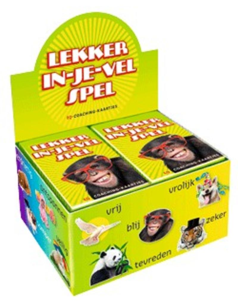 Dubbelzes Lekker in je vel spel - display 6 stuks