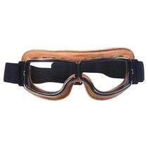 creme leren cruiser motorbril