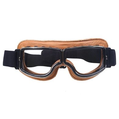 CRG creme leren cruiser motorbril