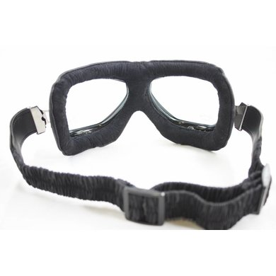 Cafe racer motorbril zwart