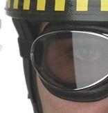 Aviator Goggle retro cuir chrome, black leather leather aviator goggles