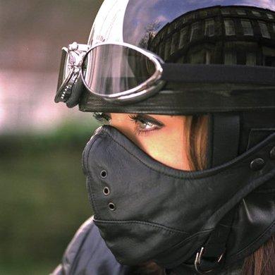 Davida classic MK2 gezichtsmasker   zwart
