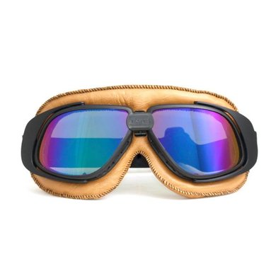 CRG retro, camel leather motor goggles