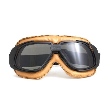 Retro, camel leather motor goggles