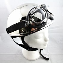 Chrome half helmet  | outlet