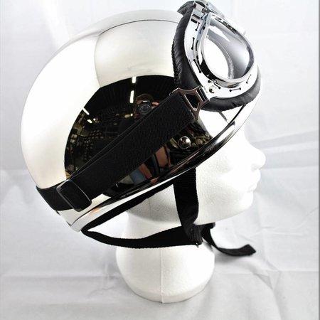 Chrome half helmet