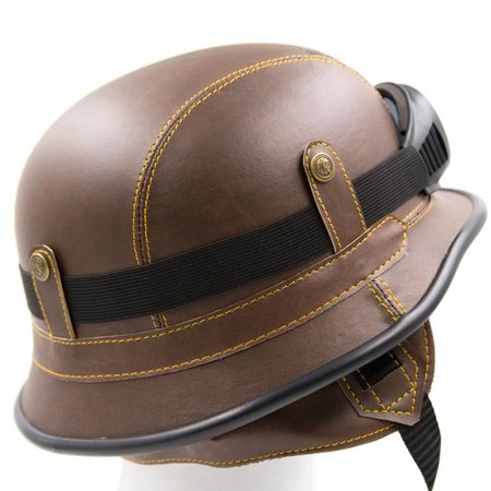 Bruin, leren duitse helm